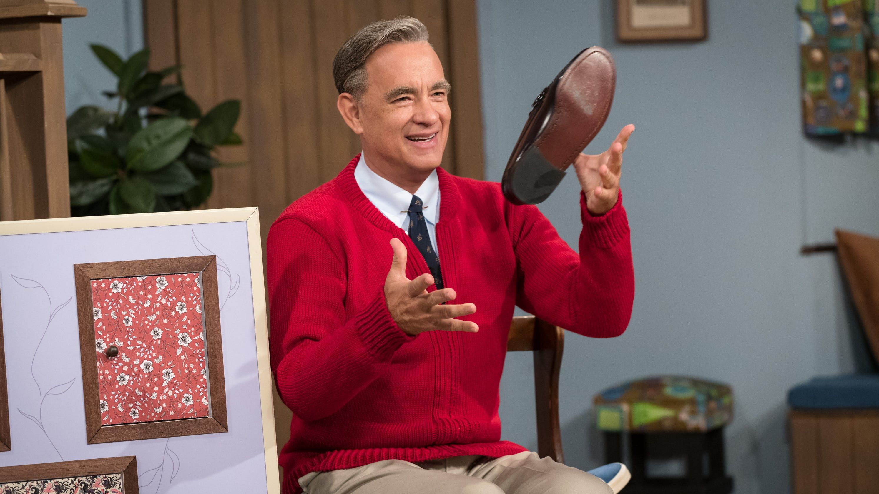 Tom Hanks Feels So Right As Mr Rogers Giving A Lesson In Forgiveness In A Beautiful Day Tom Hanks Tom Hanks Movies Fred Rogers