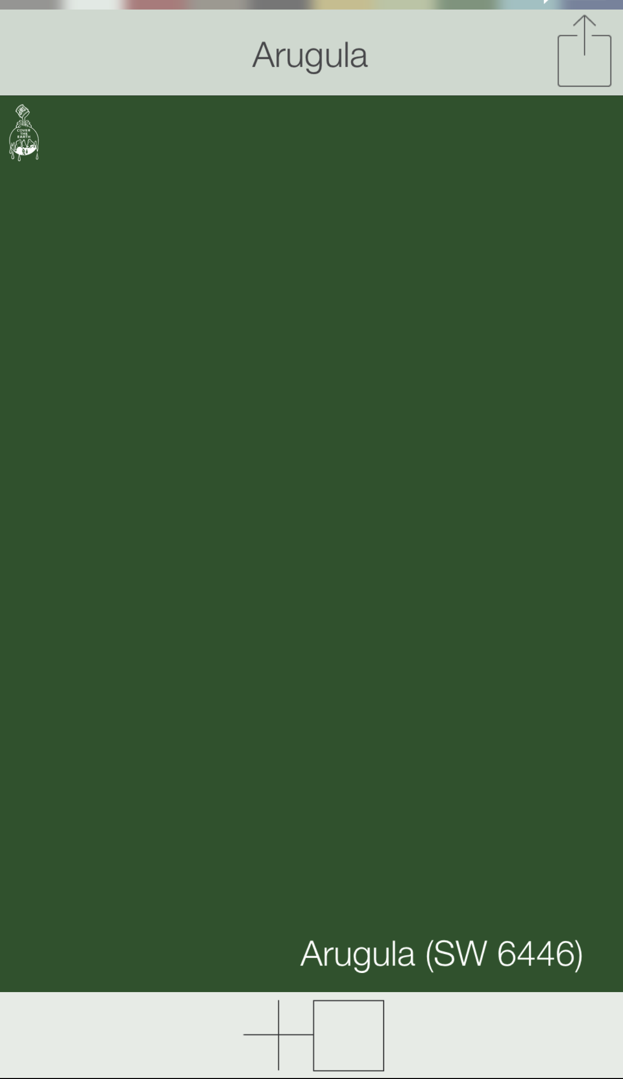 Green Front Door Colors Arugula Sw 6446 Sherwin Williams Paints Swatchdeck App Use The