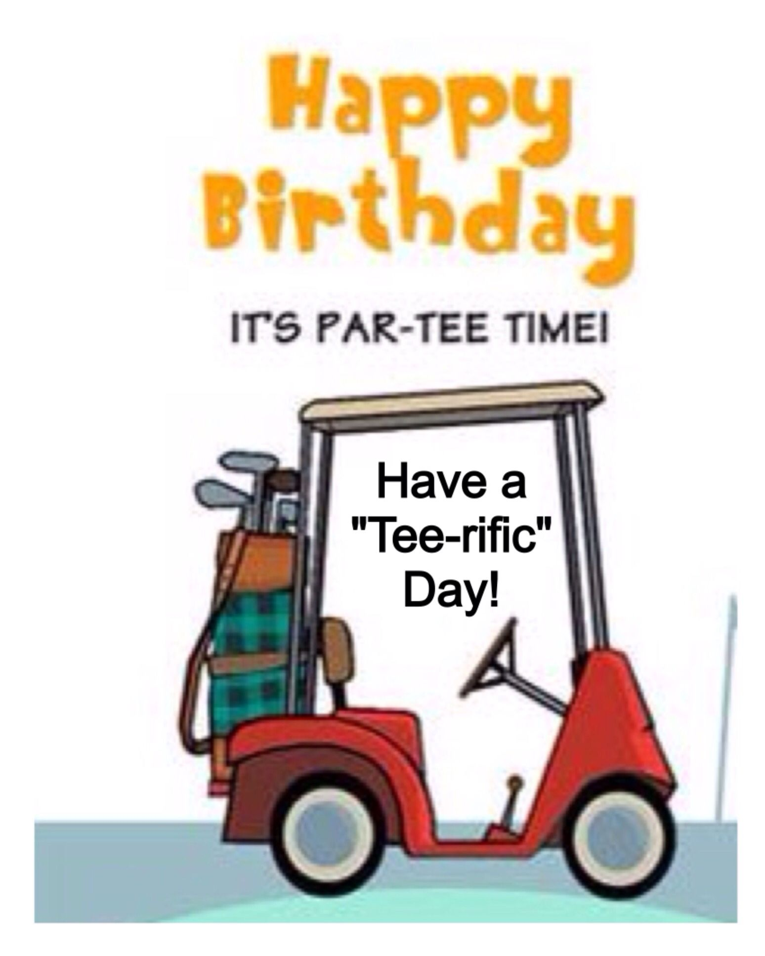 Happy Birthday   Golfing / Kaarten | Happy Birthday | Birthday