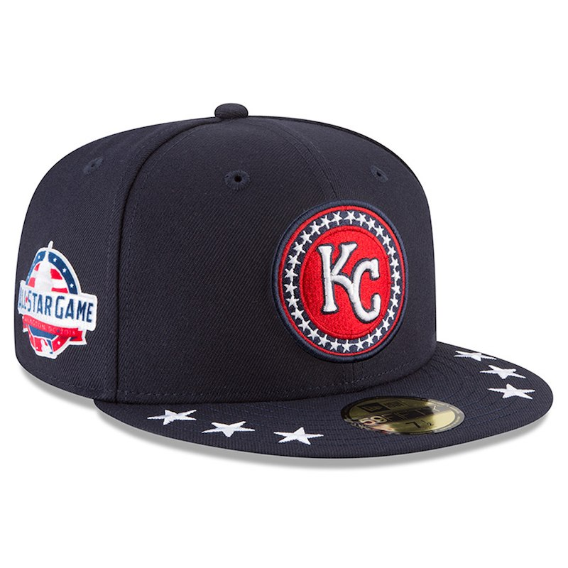 e9d9c1f4be461 Kansas City Royals New Era 2018 MLB All-Star Workout On-Field 59FIFTY  Fitted Hat – Navy