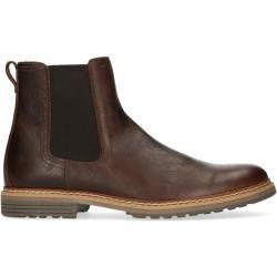 rosso e nero Chelsea Boots Herren, Velours, braun rosso e nerorosso e nero #jeansandboots