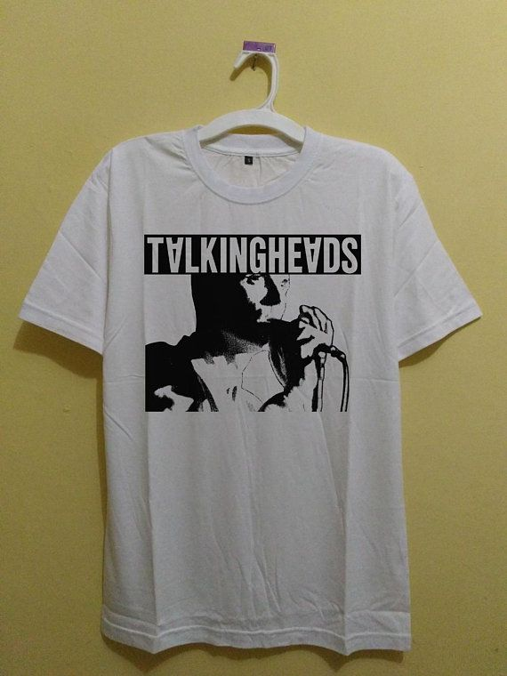 401463603d Desain vintage 90s New t shirt Elio Talking Heads unisex white ...
