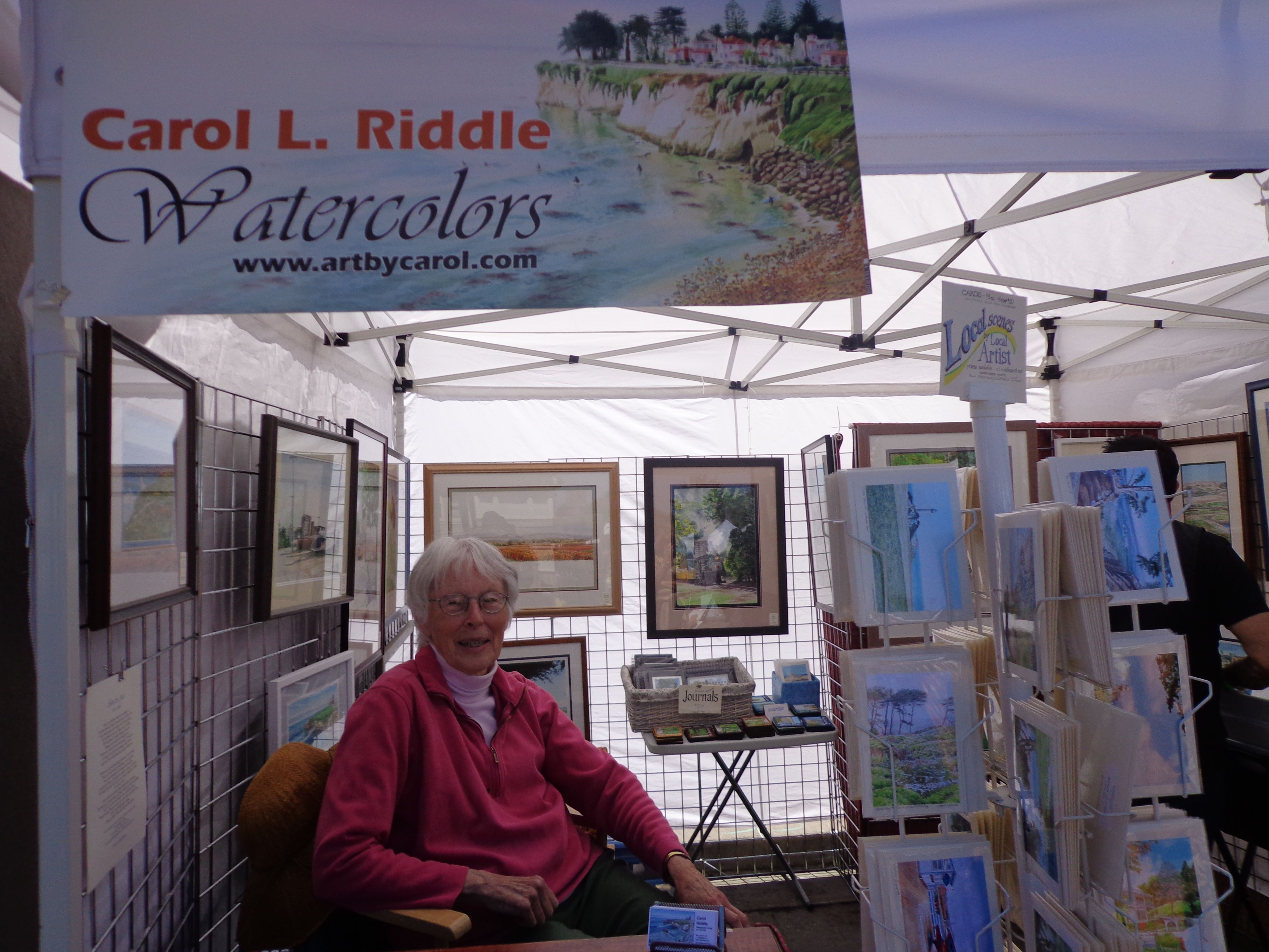 Carol Riddle Stand Friend Ellen 2012 Capitola Art and