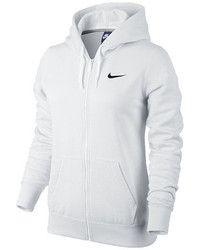 Sudadera con Capucha Blanca de Nike | Sudaderas con capucha ...