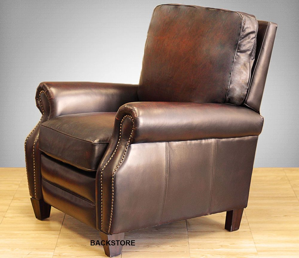 Details About New Barcalounger Briarwood Ii Genuine Stetson Bordeaux Leather Recliner Chair With Images Top Grain Leather Chairs Leather Recliner Vintage Leather Chairs