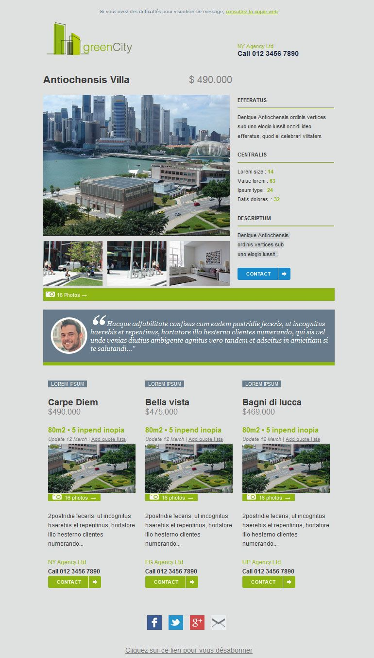 Free Email Marketing Template For Realtors Realestate