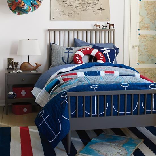 Bed Boys Bedding Nautical, Nautical Bed In A Bag Queen
