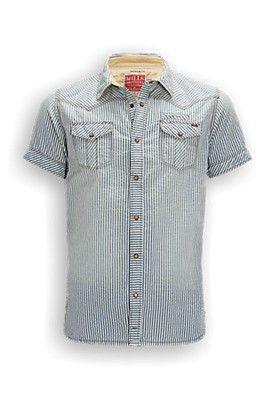 Heren Overhemd Met Drukknopen.Mills Brothers Fancy Geruite Overhemd Met Regular Fit En Korte