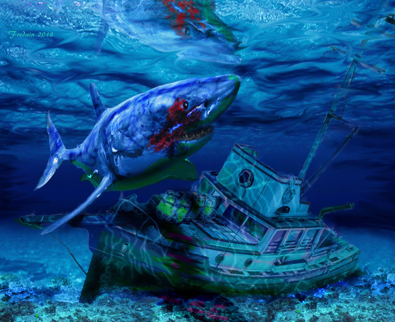 5be734bda67778 Jaws 2 artwork. Artist  Federico Alain.