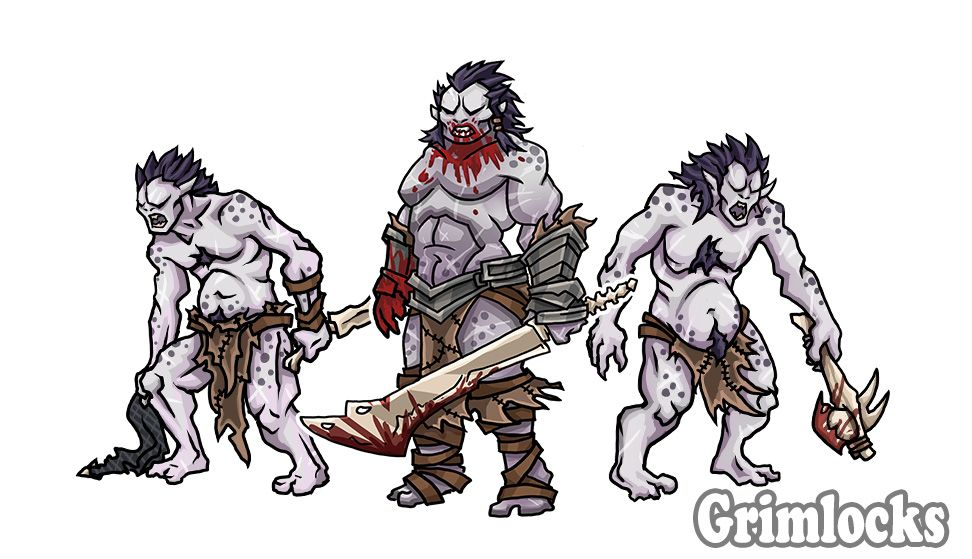 Grimlocks | Brimsteel | Printable heroes, Dungeons, dragons, Hero