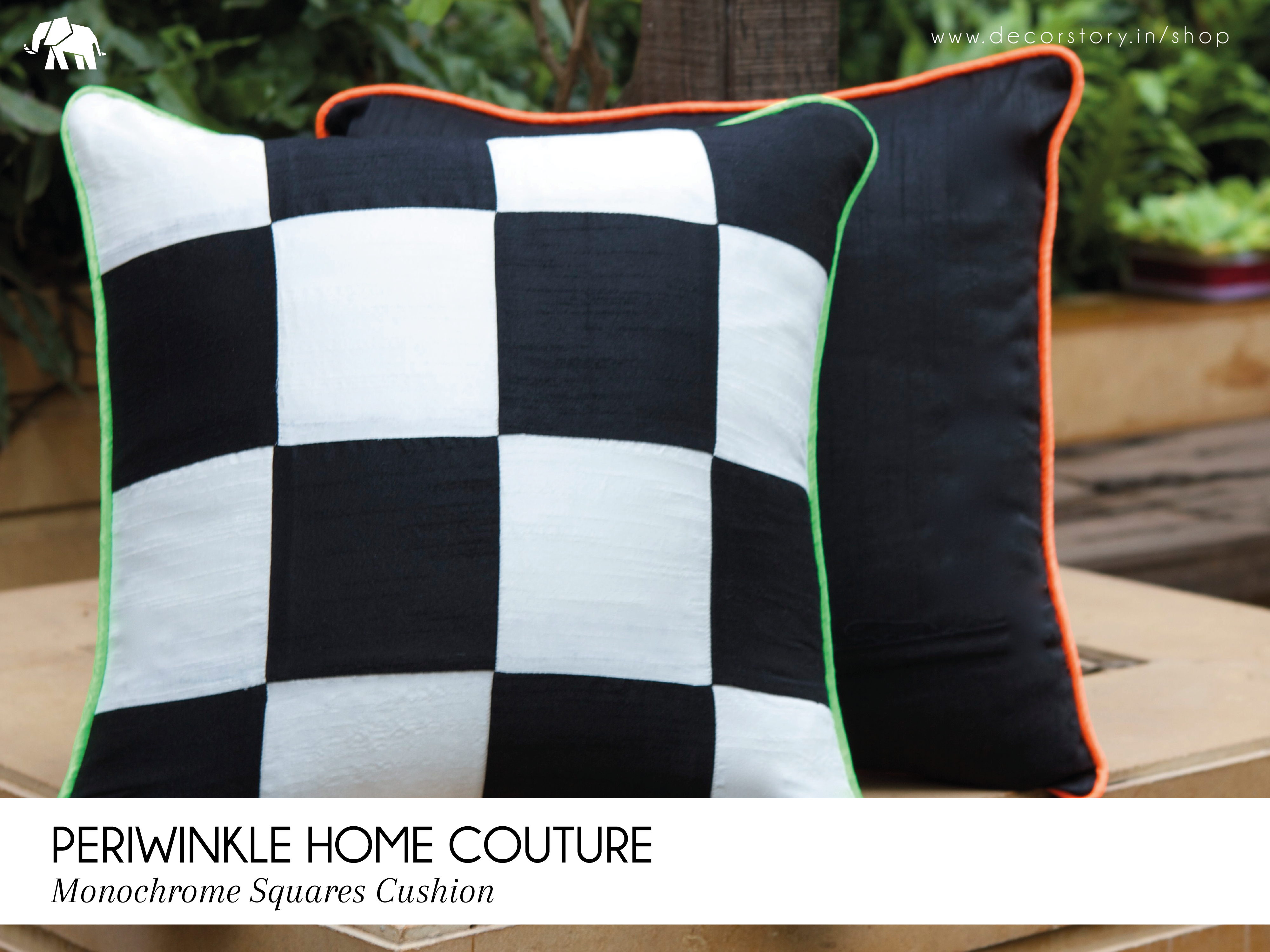 Bring in the flavor of a chessboard game into your space with this monochrome, poly silk chessboard inspired cushion cover. Create some visual drama and add a bold feel to your space! Visit www.decorstory.in to view more designs by Periwinkle Home Couture. ‪#‎DecorStory‬ ‪#‎HomeDecor‬ ‪#‎CushionCovers‬ ‪#‎HiralPawar‬ ‪#‎Chessboard‬ ‪#‎Minochrome‬ ‪#‎Drama‬ ‪#‎Bold‬ ‪#‎Unique‬ ‪#‎BlackAndWhite‬