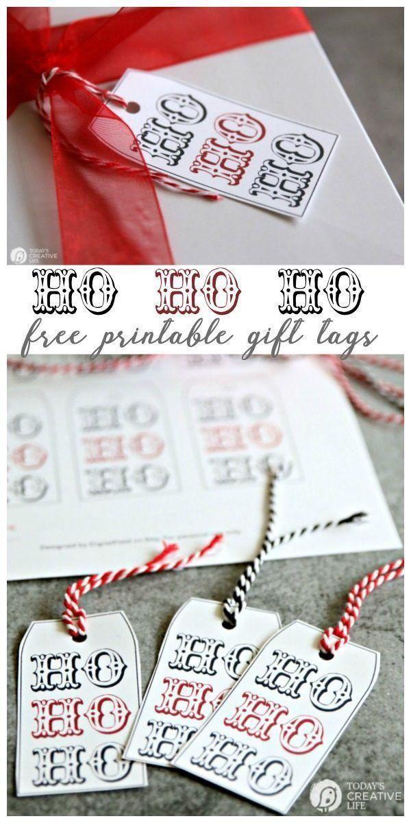 HO HO HO Holiday Gift Tags | Printables | Pinterest | Holiday gift ...