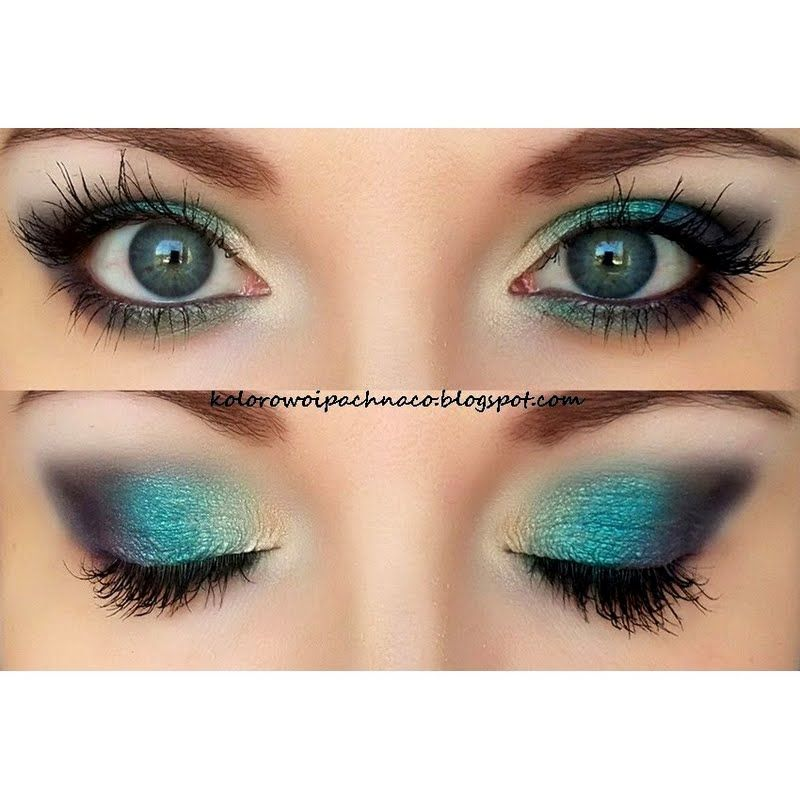 Be a stunner on your night out with this gorgeous turquoise eyeshadow. Check out the products used to achieve this eye makeup.