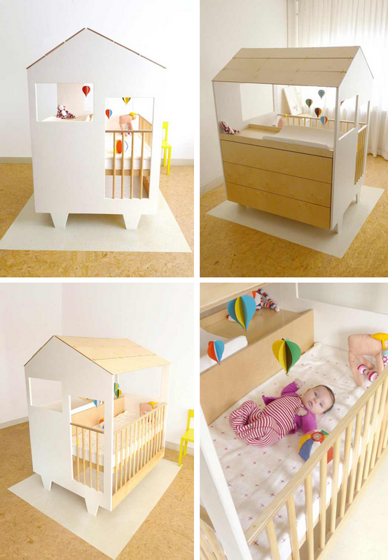 Designed By Dutch Designer Dave Keune Nina S House Is A Crib Playpen Storage Drawers And Changing Table All In One