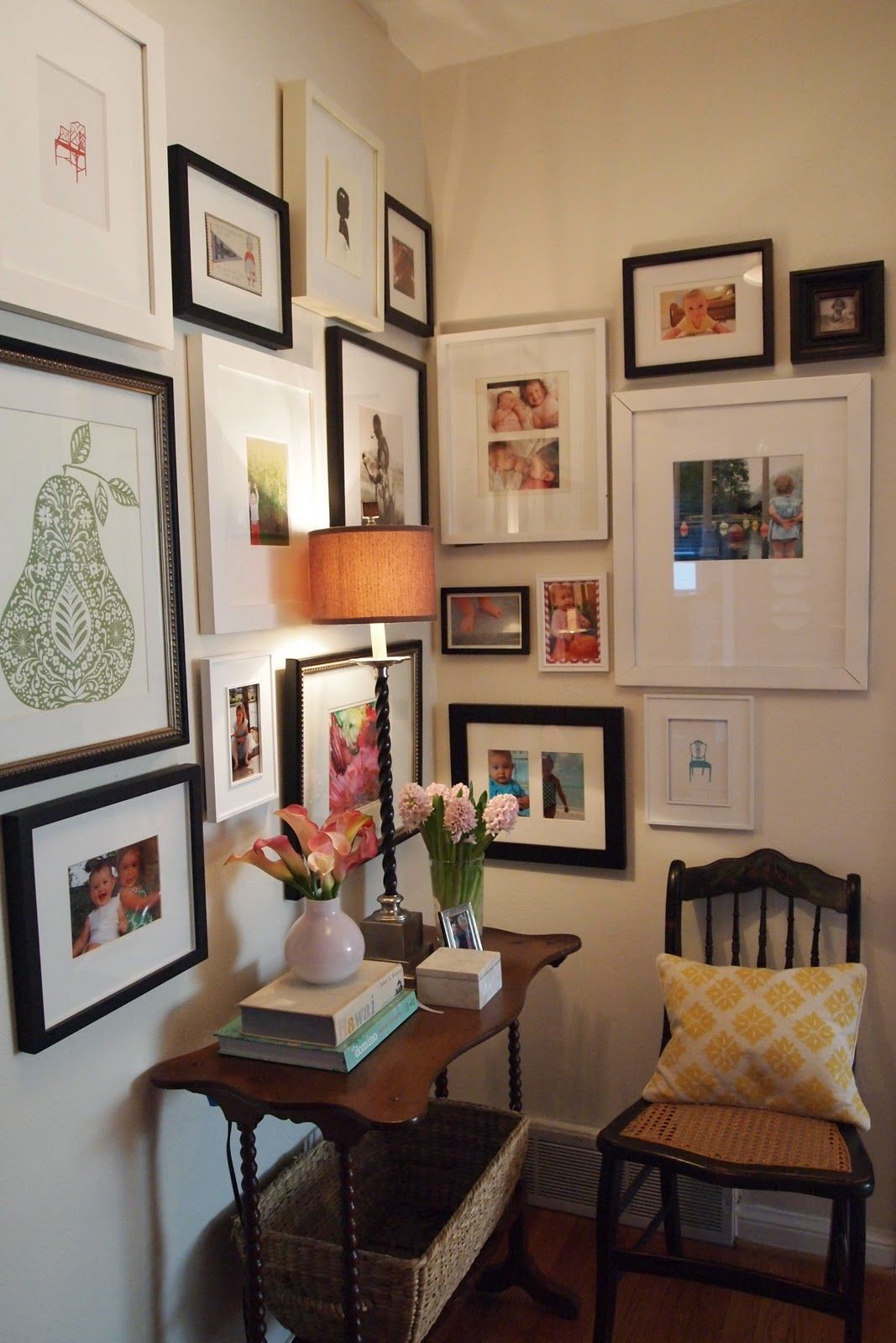 Working On A Wall Like This Corner Gallery Wall Eclectic Gallery Wall Decor