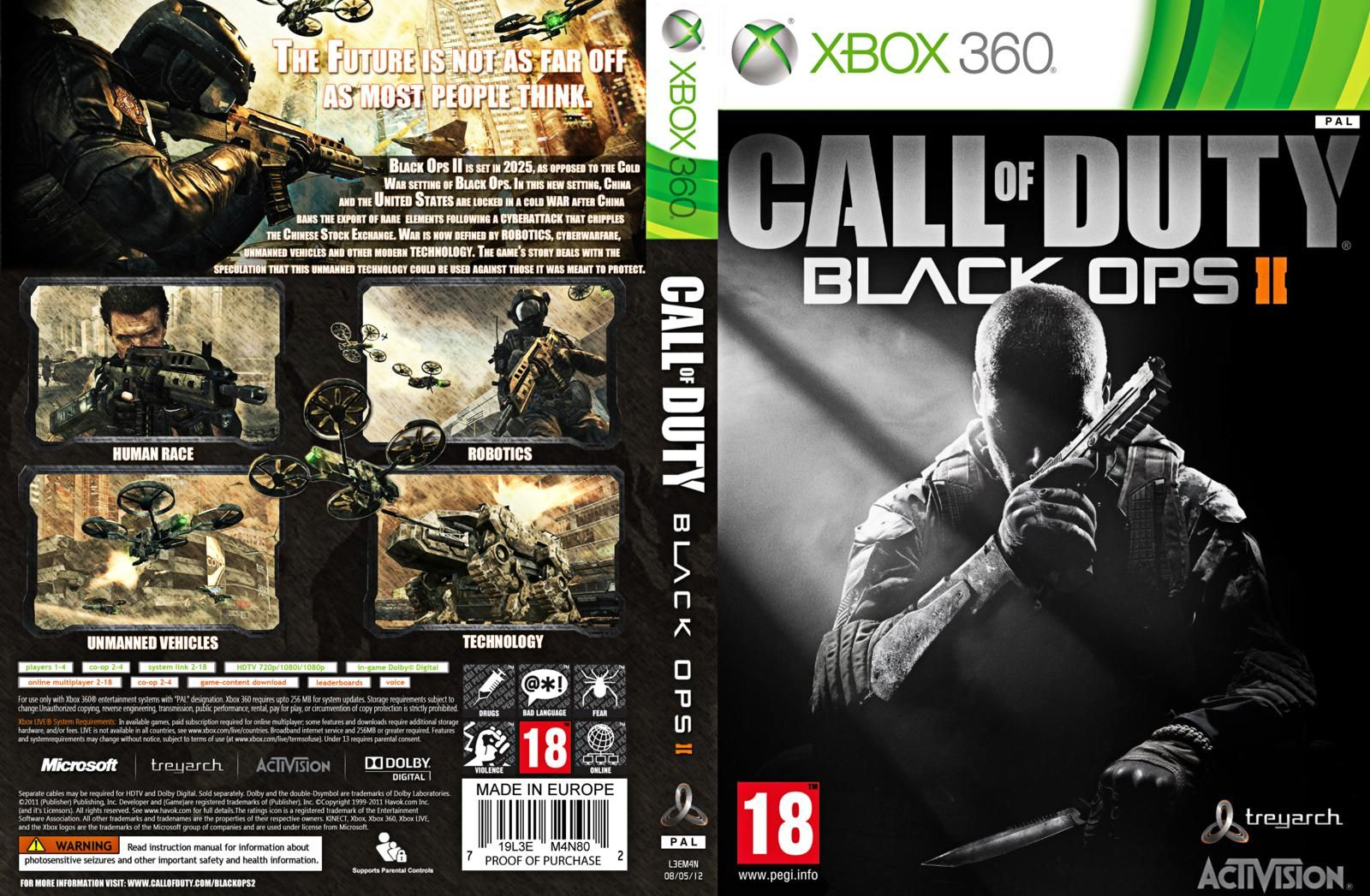 Book Cover White Xbox One : Call of duty black ops xbox cover