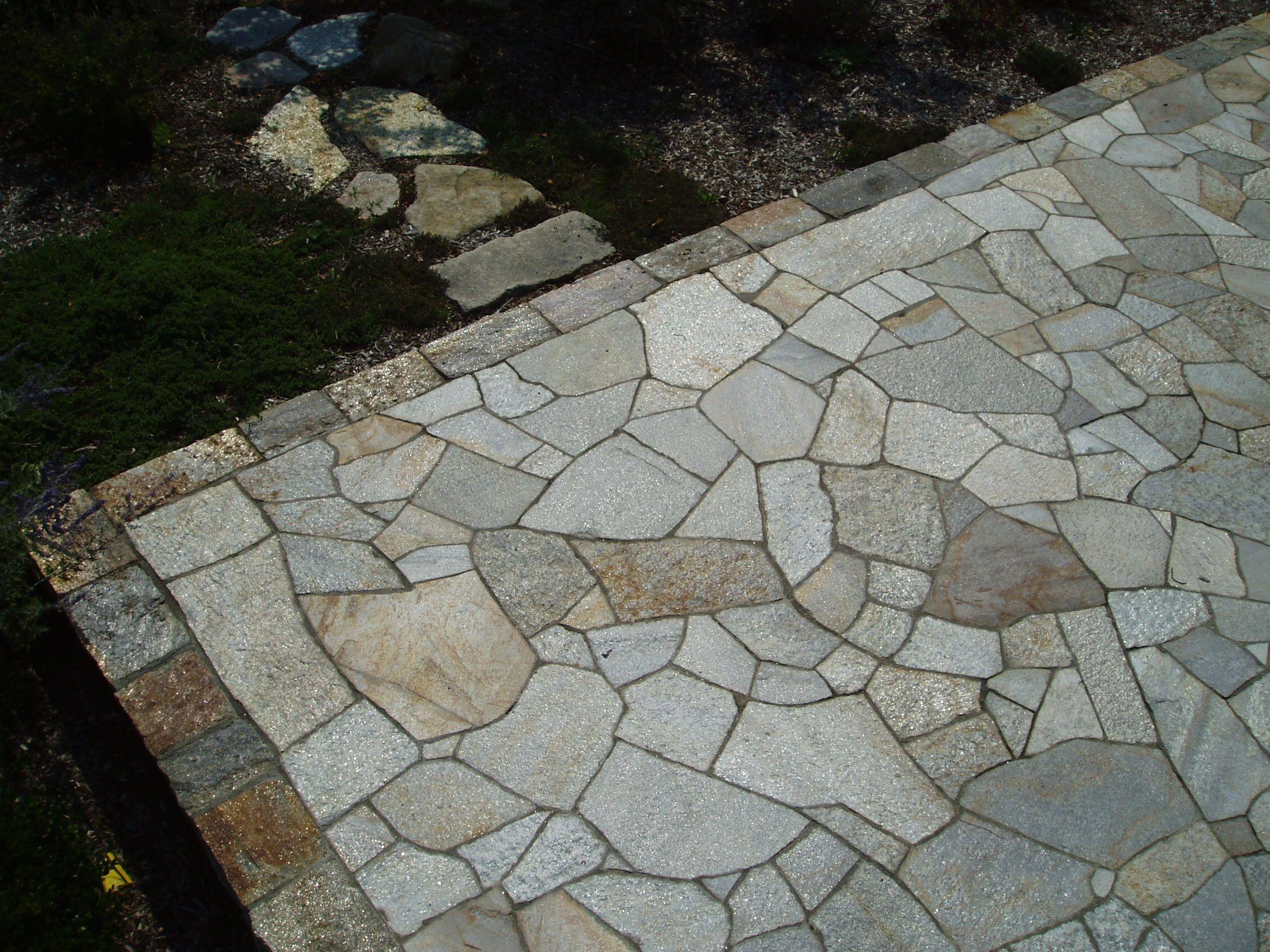Flagstone Patio Mosaic Pattern Quartzite Stone Yard Garden - Flagstone patio patterns