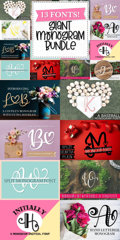 Download Big Monogram Bundle - 10 of my Best Selling Monogram Packs ...