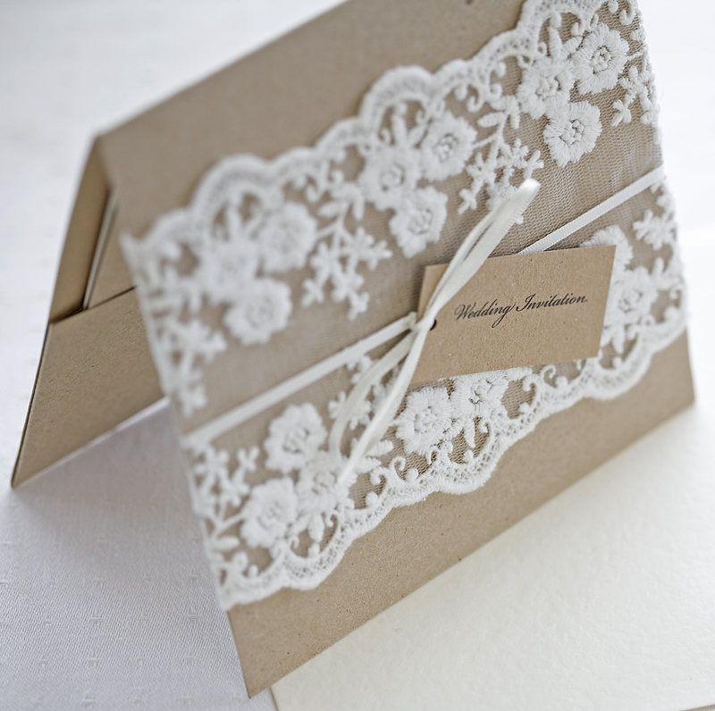Rustic Lace Wedding Invitations Pocketfold Great Style Love The