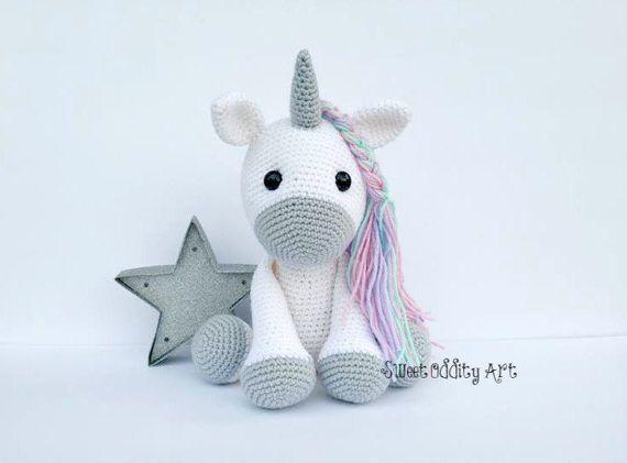 crochet de unicornio muñeca Unicornio juguete del Unicornio | tejido ...