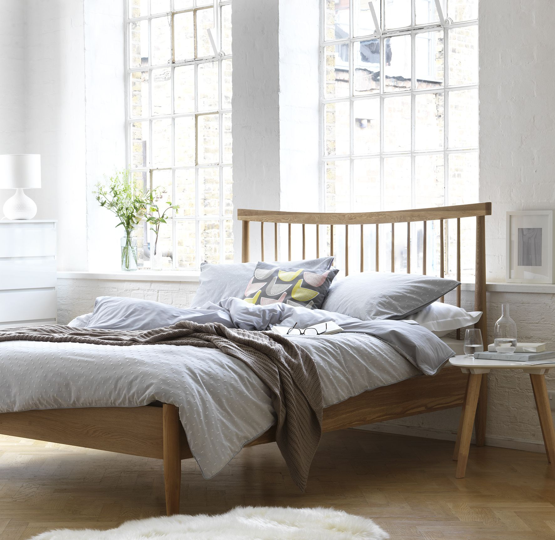 Buy Heart Of House Dorset Spindle Double Bed Frame Oak At Argos
