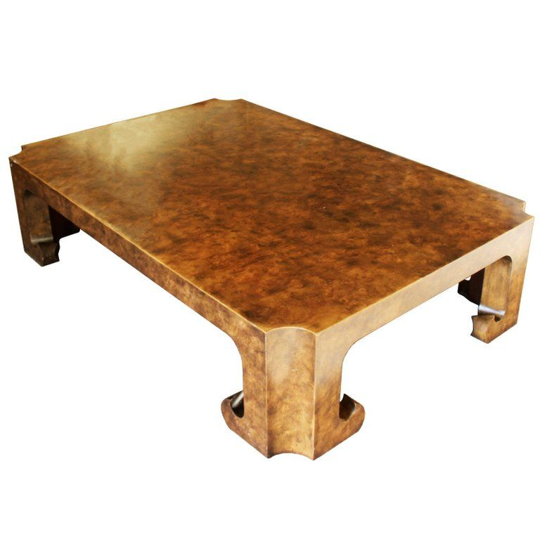 Mid Century Modern Baker Burl Wood Asian Coffee Table Collector S