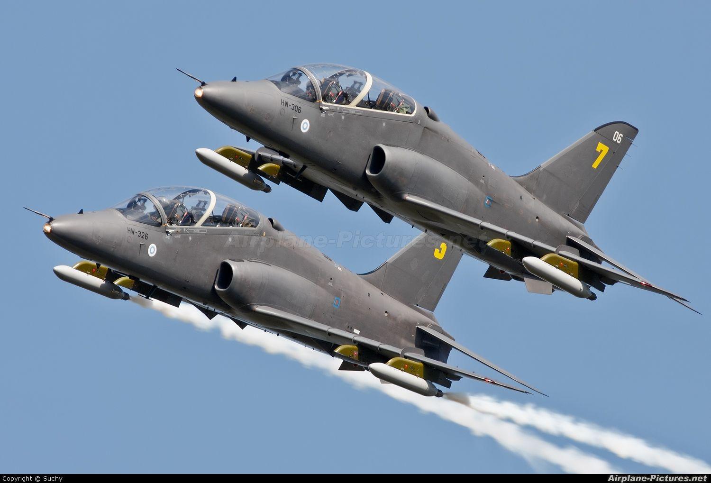 Midnight Hawks Aerobatic Team, flying BAE Hawk 51, Finnish