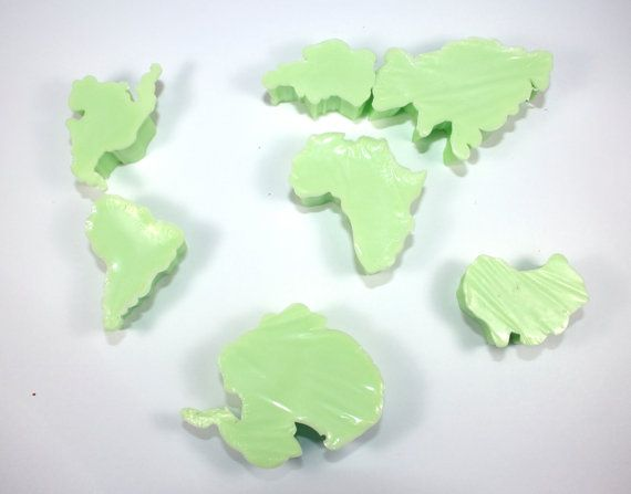 Have the Whole World in Your Tub - 7 Continent Soaps, globe, world, montissori, teaching, travel on Etsy, $6.00