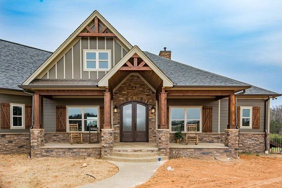 Photo of Plan 360012DK: Charming 4-Bed Country Craftsman Home with Bonus Over Garage