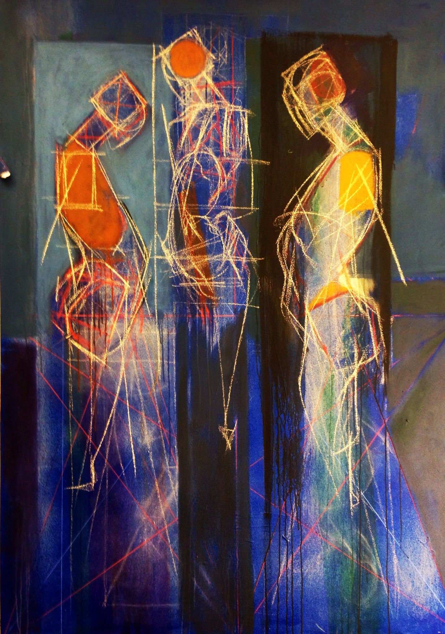 Abstract Figures By Michael Mentler Studied At The School Of The