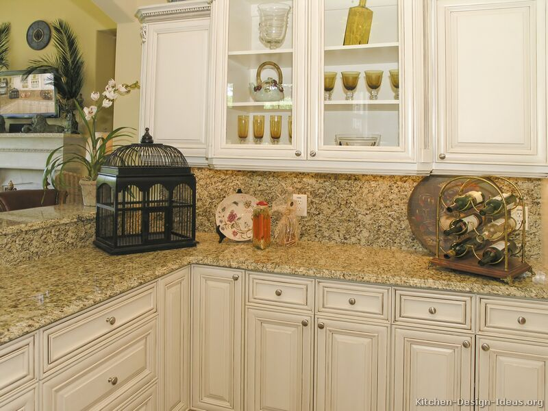 Off White Kitchen Cupboards antique white kitchen cabinets |  of kitchens - traditional