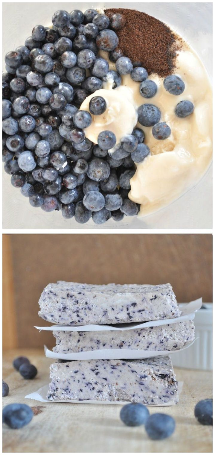 All you need is 4 ingredients to make these Blueberry Bliss Bars with zero processed sugar! #healthy #nobake