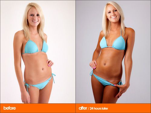 Exceptional U003eBefore And After Sunless Tanning