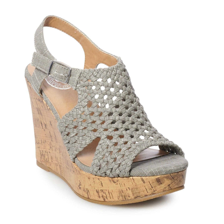 SO® Taffy Women's Wedge Sandals   Kohls