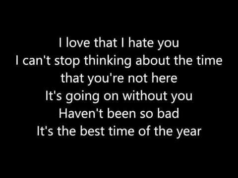 I Love You And I Hate You Lyrics