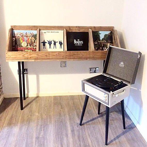 Vinyl Record Storage Record Stand Record Holder Book Stand Etsy Vinyl Record Storage Record Stand Record Storage