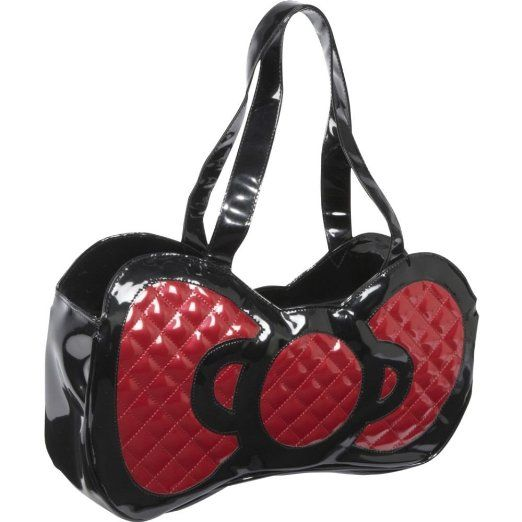 Amazon.com  Hello Kitty Black Patent Embossed Red Bow Purse Handbag   Clothing 876e8c95cc8e5