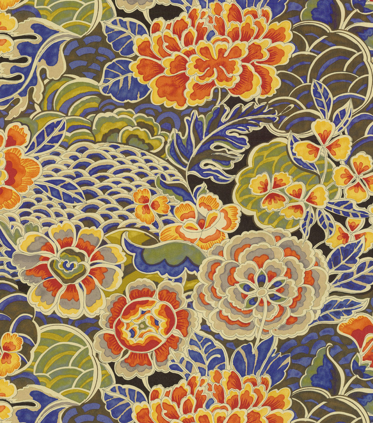 """Waverly Upholstery Fabric 54"""" Pieceful Porcelain in 2020"""