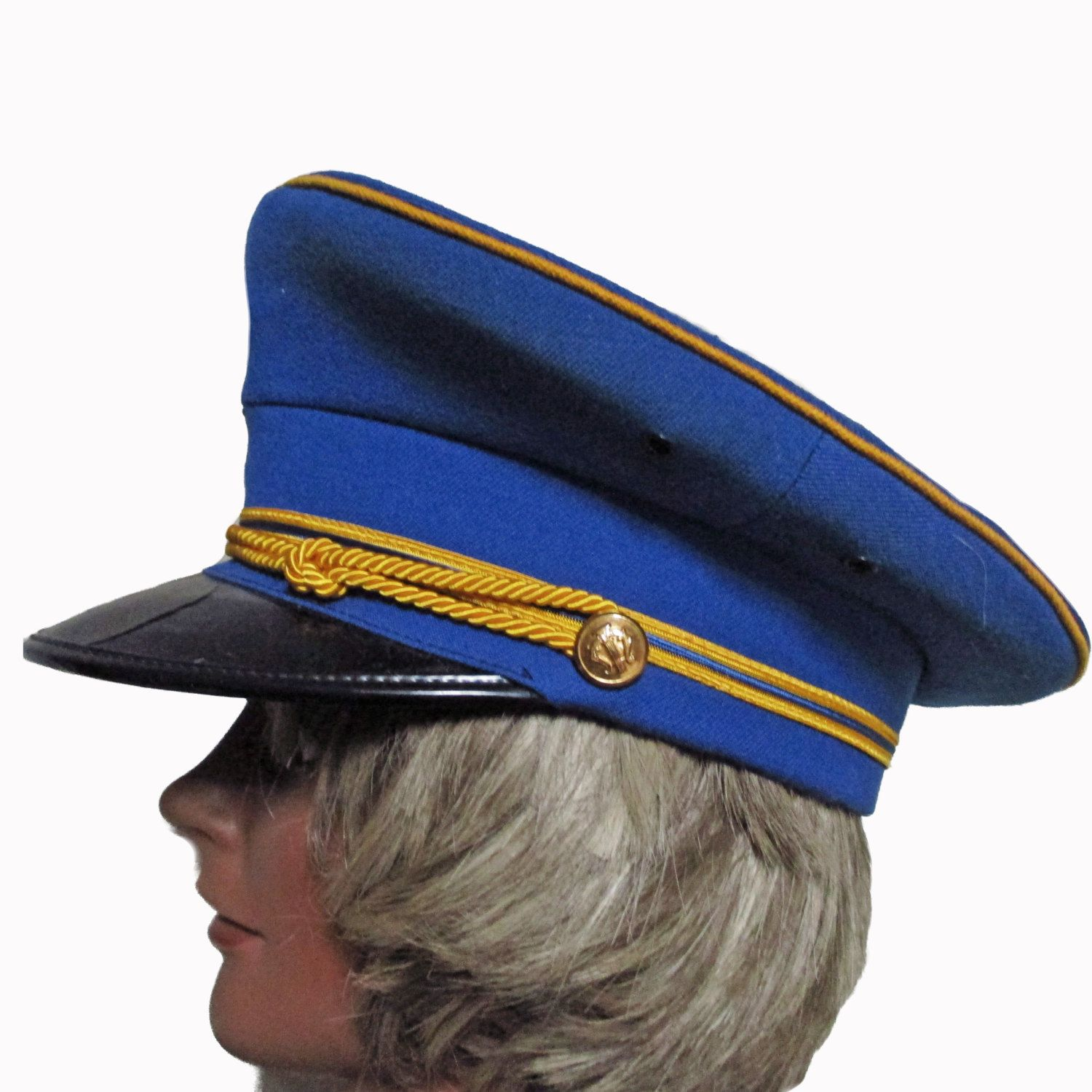 Vintage Marching Band Hat - 50s Military Uniform Hat ...