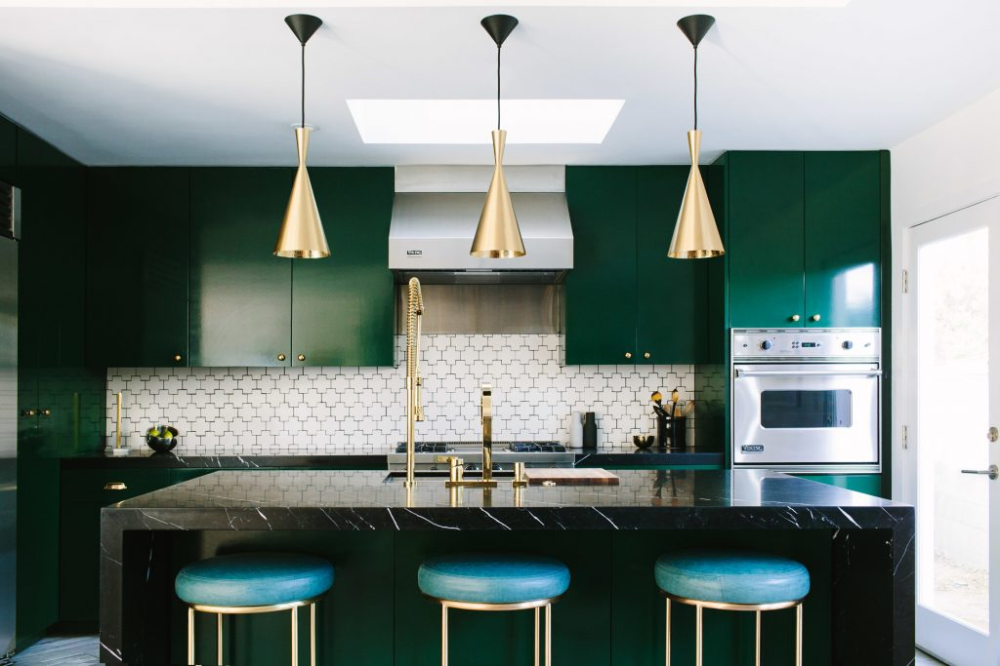 Top Trend Colors Of 2019 Jewel Tones The Chroma Home Kitchen Colour Combination Kitchen Design Small Modern Kitchen