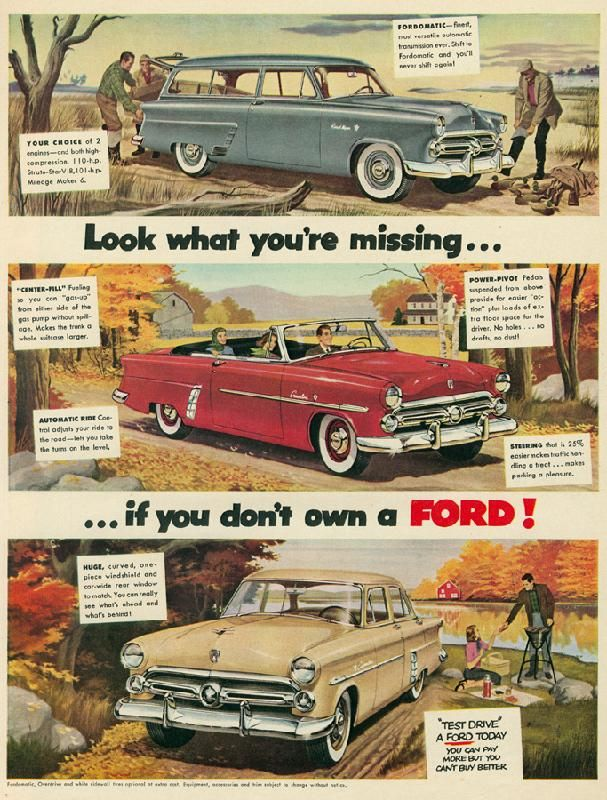 Ford Magazine Ads From 1950s 34 Pics Car Ads Car Print Ads Ford