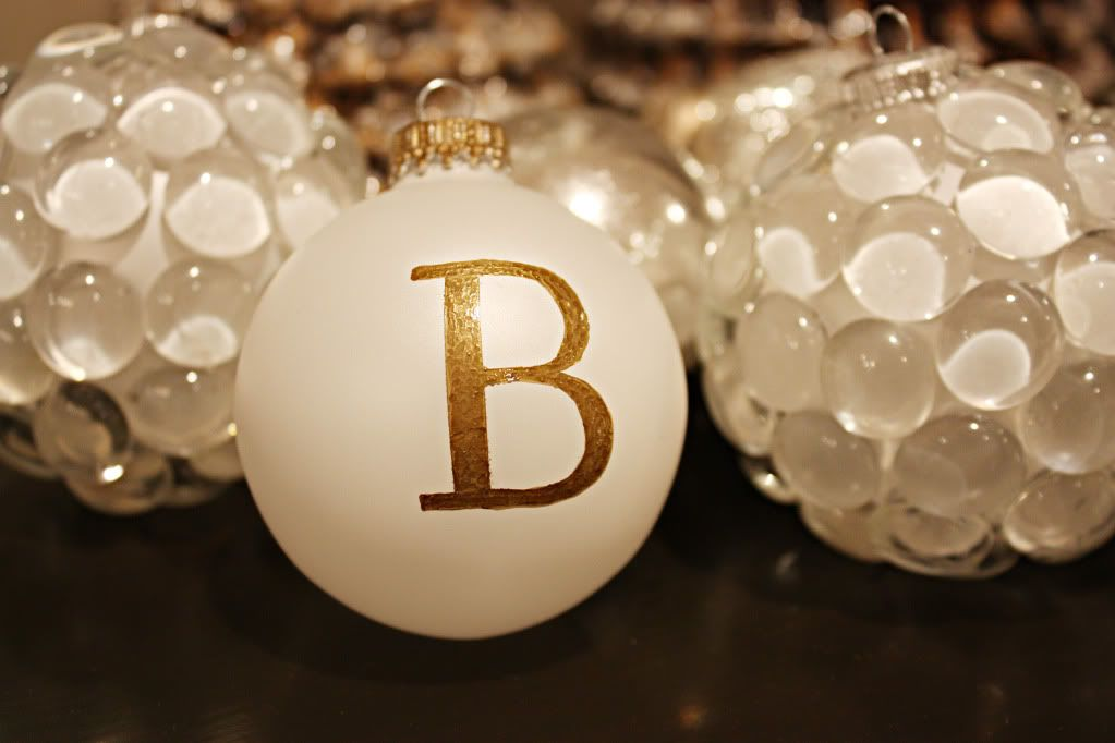 DIY Christmas Monogrammed Ornaments - Bower Power