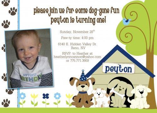 photos dog themed birthday party invitations – Dog Themed Birthday Party Invitations