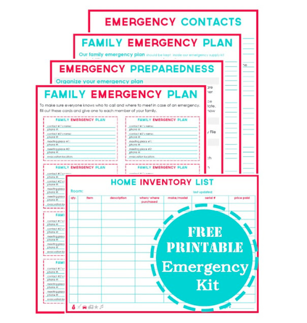 4 Printable Emergency Plan Templates Emergency Plan Family