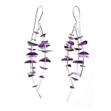 Purple four strand wire | Contemporary Earrings by contemporary ...