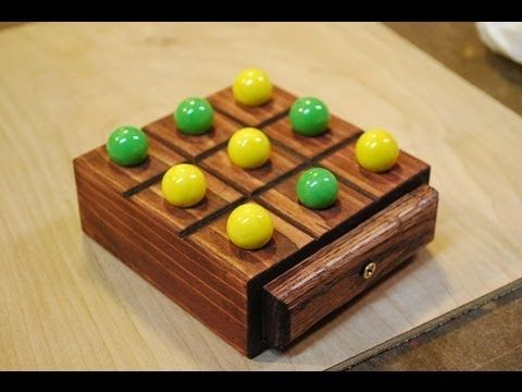How to make a wooden tic tac toe game with storage travel size how to make a simple marble tic tac toe game out of a block of wood this is a great little do it yourself project that can be made in just a few hours solutioingenieria Images