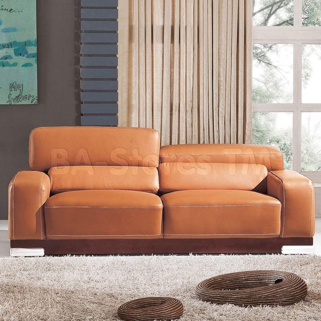 Sale 2766 Sofa Orange Leather Sofas Sofa Beds Esf 2766 S 8 Sofa Living Room Furniture Leather Sofa