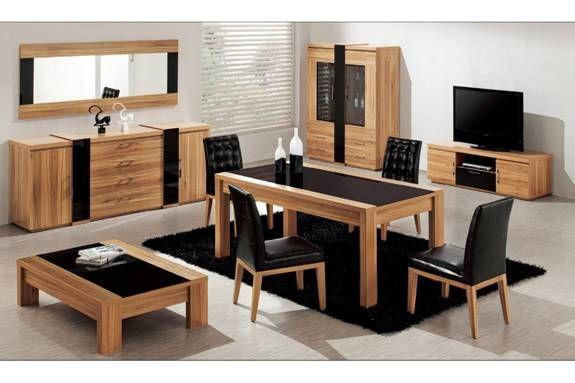 Table de salle à manger en bois massif meubles Pinterest