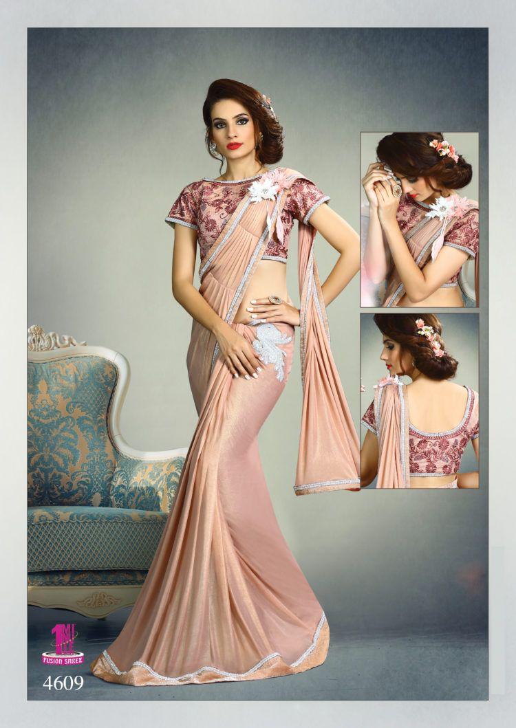 64b8a15a21 Light Pink Color Fancy Knit Designer One Minute Saree - ClickOnBazar ...