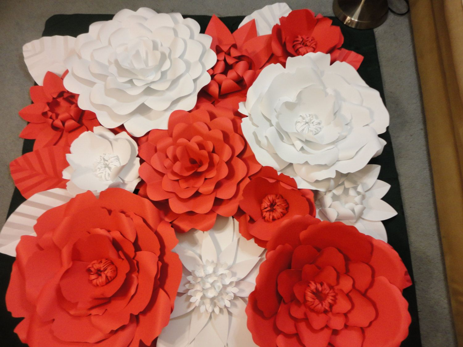 Red Paper Flower Wall 5 Ft X 5 Ft Extra Large Paper Poshstudios
